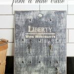 Distressed Key Holder from Wine Crate