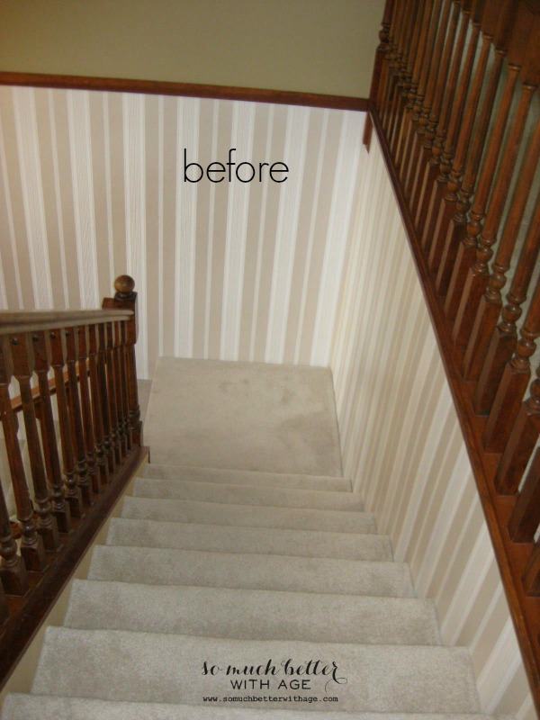 Before / Neutral foyer via somuchbetterwithage.com