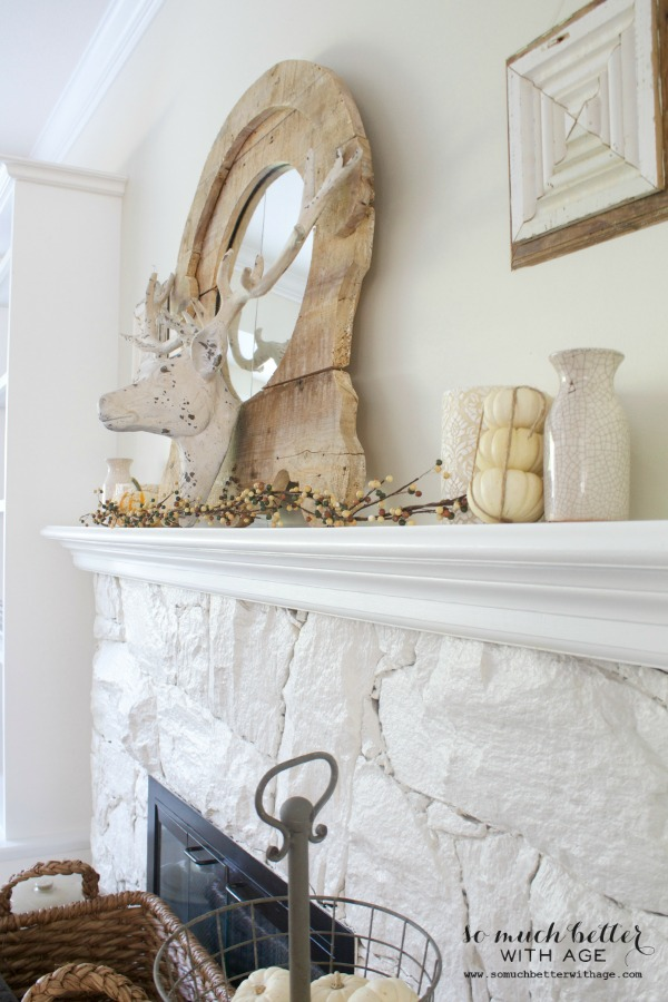 Fall Home Tour 2014 / deer head, rustic and neutral