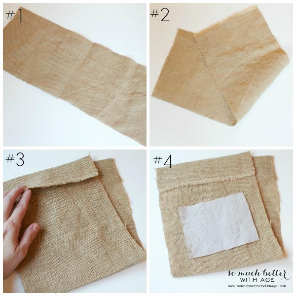 DIY burlap gift bag tutorial | somuchbetterwithage.com
