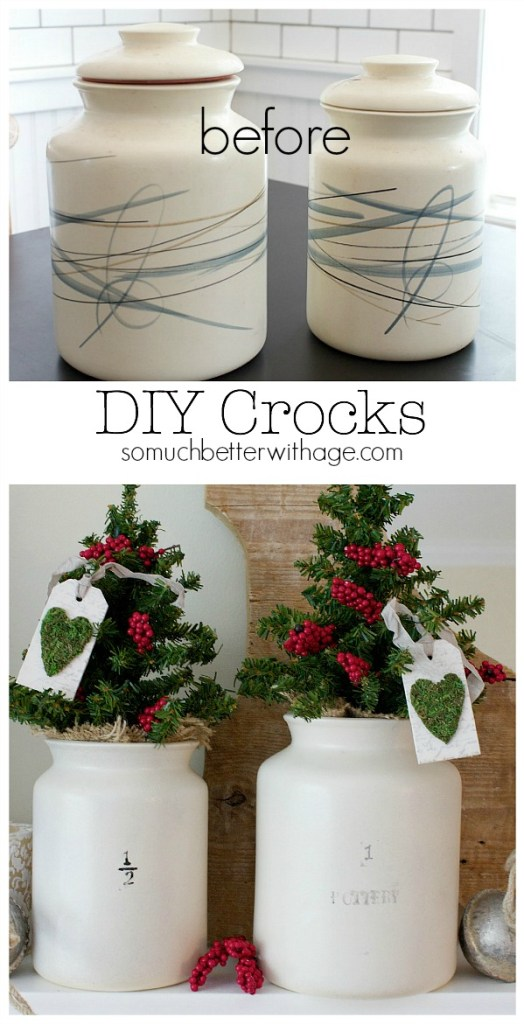 DIY crocks before and after by somuchbetterwithage.com