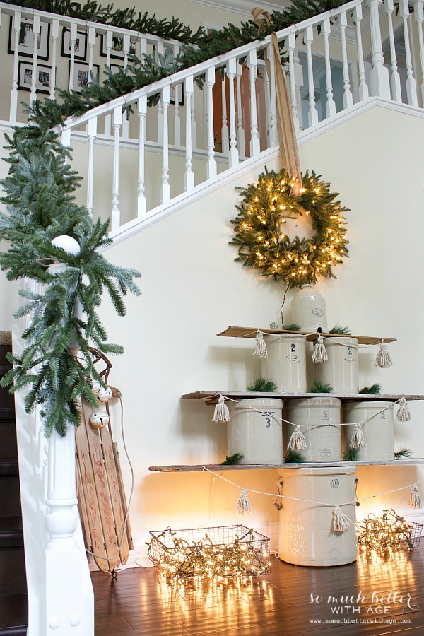 Crock Christmas tree / Holiday Housewalk by somuchbetterwithage.com