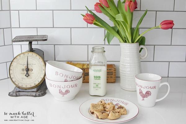 French bonjour dinnerware | somuchbetterwithage.com