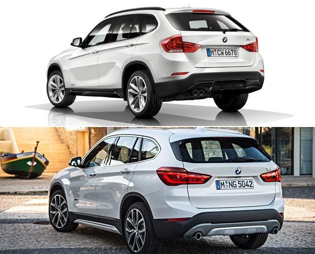 ANTES E DEPOIS: BMW X1 (Foto: Divulgação)