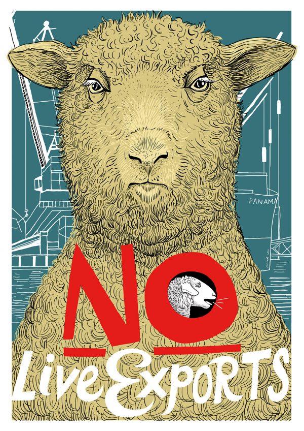 No Live Exports - A2 Colour Poster