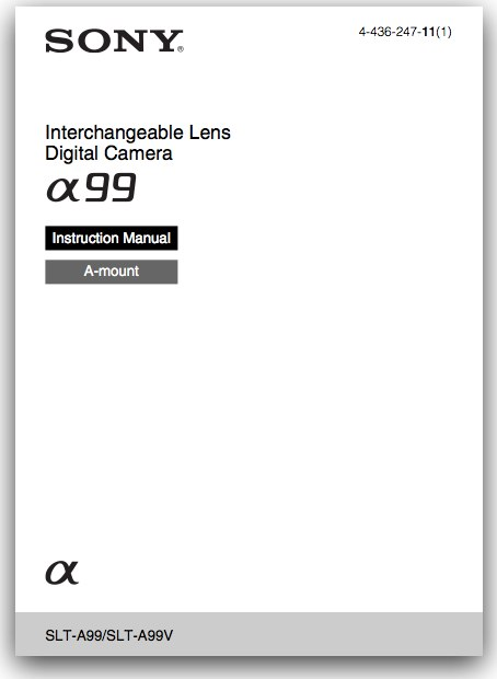 download sony slt a99 user manual sony alpha dslr information hub Sony A100 Camera Sony A100 Specs