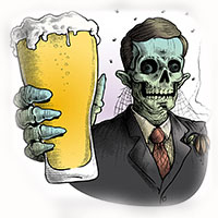 Zombie With Beer