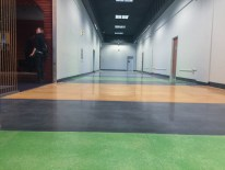 Love the colors of the floors on the first floor