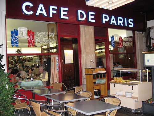 Cafe de Paris in Geneva
