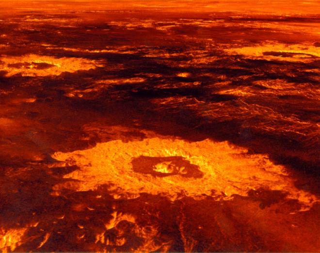 La superficie de Venus.