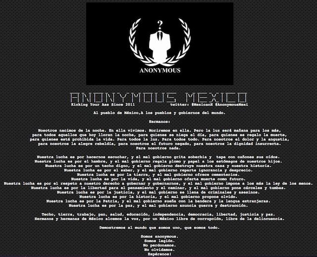 Anonymous hackea Sedena
