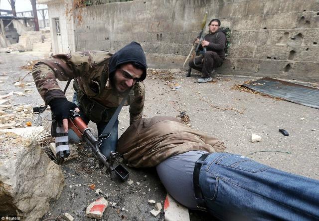 La lucha rebelde en las calles de Damasco.