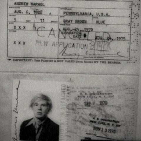 pasaporte andy warhol