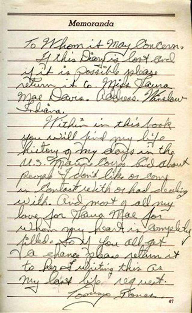 Memorial Day Marines Diary