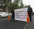 Bomberos marchan al Zócalo; exigen mejor equipo