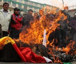 bolivia queman bandera estados unidos 1