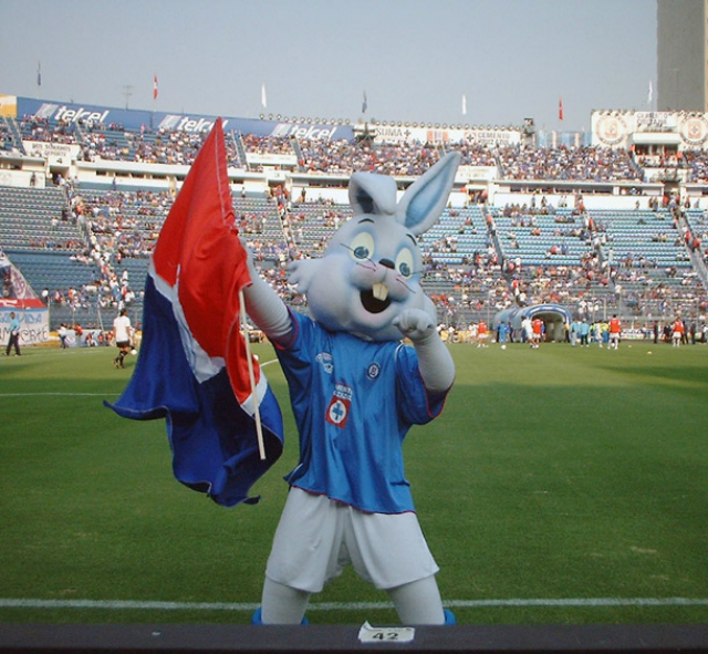 mascota azul