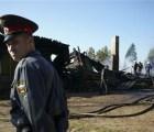 incendio rusia oficial soldado