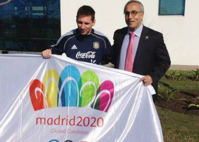 messi apoyando a madrid