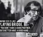 """Woody Allen: """"Hacer el amor"""" (video)"""