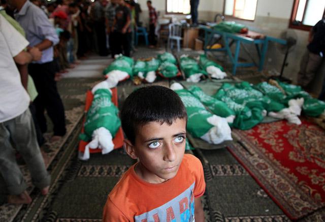 Funeral of Palestinian Abu Jamei family members