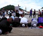 Los musulmanes tzotziles de Chiapas se manifestaron por la paz en Gaza