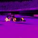 Así se ve un auto de F1 en el lente de una cámara infrarroja