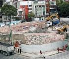 Destruyen vestigios prehispánicos en estacionamiento frente a Plaza Delta