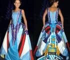 Mujer se confeccionó un vestido de bodas... ¿con las playeras del Manchester City?