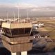 Un drone sobrevuela el Aeropuerto de la Ciudad de México