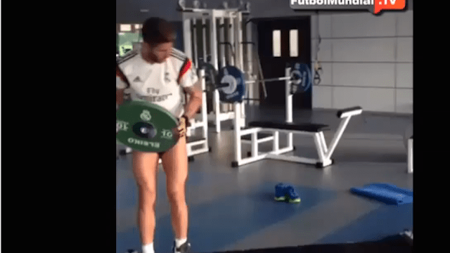 """El """"delicado"""" entrenamiento de Sergio Ramos"""