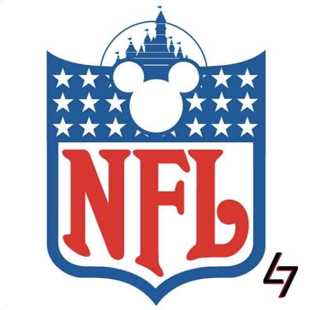 Los logos de la NFL como si fueran de Disney