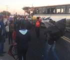 Carambola de autobuses en Puebla deja 3 muertos