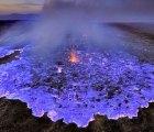 ¿Un volcán que emite lava azul?