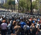 Granaderos repliegan a la CNTE
