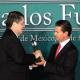 EPN entregó premio Carlos Fuentes al escritor Sergio Ramírez