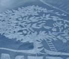 Obras de arte gigantes en la nieve
