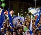 Miles protestan contra Netanyahu en Israel