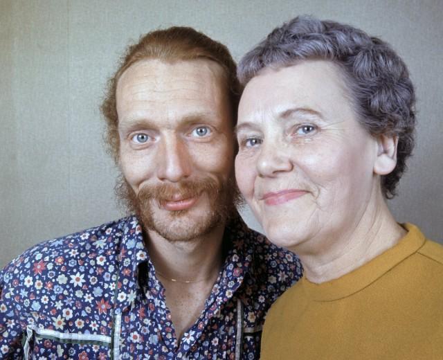 Rock drummer Ginger Baker and his mother.