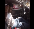 Surge video de taxista amenazando con balear a ciclista