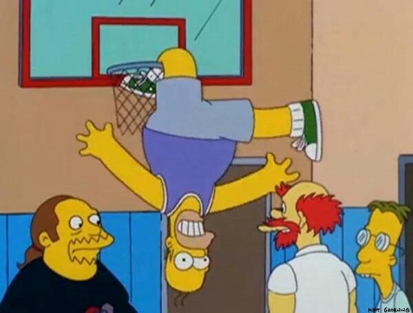 Como lo vio en TV: lesión de Homero jugando básquet es posible