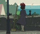 """Escenas de películas de Miyazaki al estilo japones """"shin-hanga"""""""