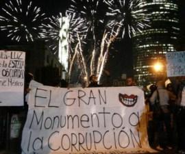 Protesta en la estela de Luz