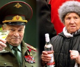 Russians and vodka.