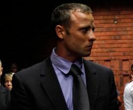 Pistorius awaits the start of court proceedings in the Pretoria Magistrates court