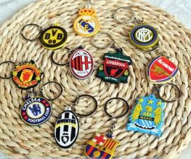 BRZ016-Juve-Milan-Arsenal-Dortmund-Barcelona-Real-Madrid-Team-Logo-Key-Chain-15-pieces-pack-Beautiful