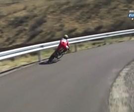 caida ciclista vuelta a españa