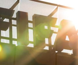 ZURICH, SWITZERLAND - JUNE 03: A FIFA logo sits on the rooftop at the FIFA headquarters on June 3, 2015 in Zurich, Switzerland. Joseph S. Blatter resigned as president of FIFA. The 79-year-old Swiss official, FIFA president for 17 years said a special congress would be called to elect a successor. (Photo by Philipp Schmidli/Getty Images)