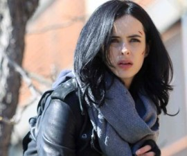 """NEW YORK, NY - MARCH 10:  Krysten Ritter filming """"Jessica Jones"""" on March 10, 2015 in New York City.  (Photo by Steve Sands/GC Images)"""