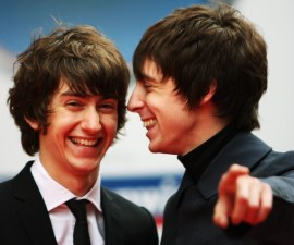 LONDON - SEPTEMBER 09:  Alex Turner and Miles Kane of the 'Last Shadow Puppets' arrive at the Mercury Music Prize 2008 at Grosvenor House Hotel on September 9, 2008 in London, England.  (Photo by Chris Jackson/Getty Images)